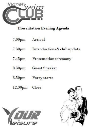 Presentation evening agenda