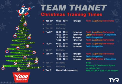 Xmas Timetable (A4L)