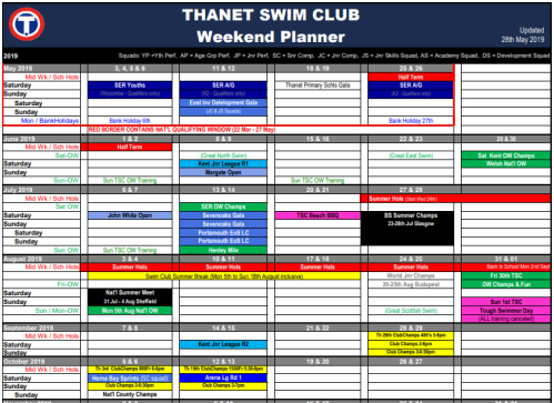 TSC Weekend Planner (2019-05-28) Mini Image