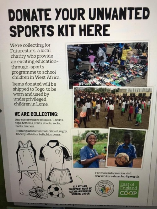Charity Sports Kit donations